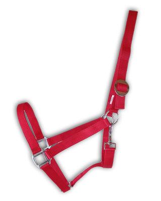 Nylon halster rood - Full